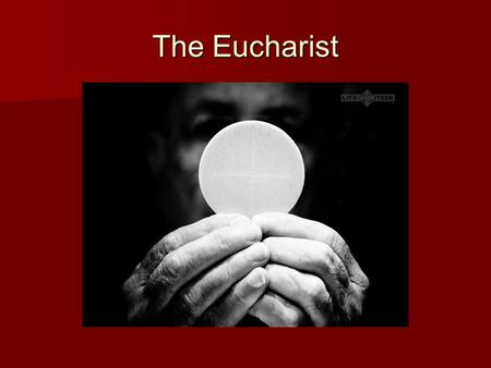 The Eucharist. Sign—Symbol—Reality  Sign of Baptism  Symbol of Baptism  Reality of Holy Baptism.