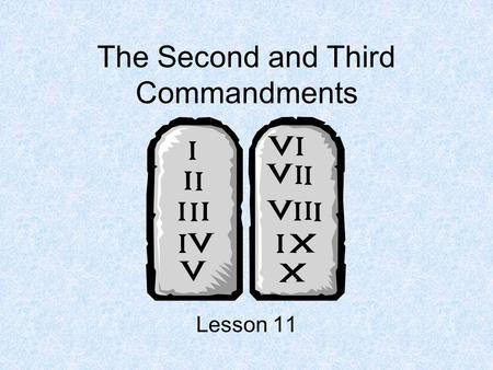 The Second and Third Commandments Lesson 11. Name the Inventor Johan Gutenberg Charles Goodyear Alexander Graham Bell.