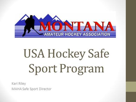 USA Hockey Safe Sport Program