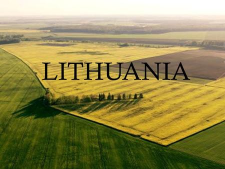 LITHUANIAN QUALITIES LITHUANIA. shed blood for the Motherland life fields of ryes and wheats.