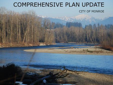 Chamber of Commerce- March 2014 │ 1 Comprehensive Plan Update City of Monroe COMPREHENSIVE PLAN UPDATE CITY OF MONROE.
