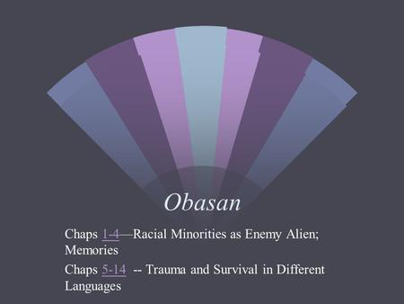racial prejudice and injustice in the book obasan by joy kogawa In the book obasan, by joy kogawa remembering the immense struggle her and her family had with racism naomi remembers moving with obasan to a obasan book.