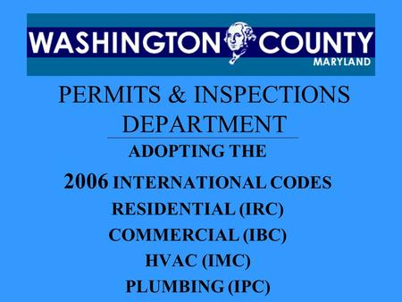 PERMITS & INSPECTIONS DEPARTMENT