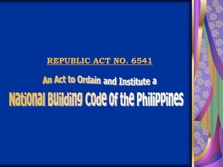 REPUBLIC ACT NO. 6541. Title 1 ADMINISTRATIVE Chapter 1.01 GENERAL PROVISIONS GENERAL PROVISIONS.