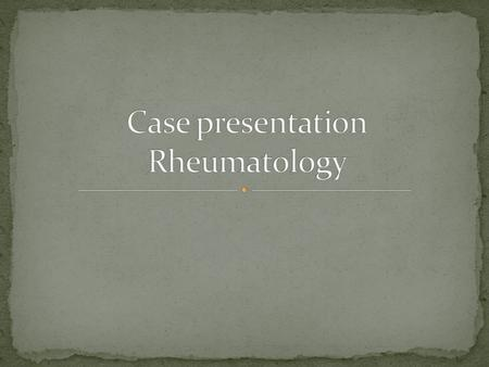 39 yr old female pt, unemployed from Bloemfontein Routine follow up at rheumatology Background history of hypertension Diagnosis of ? Mixed connective.