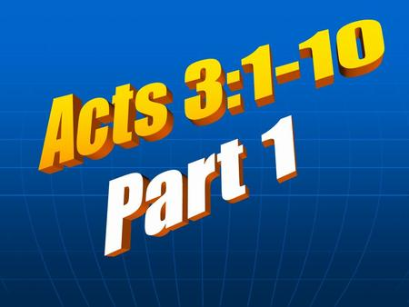 In Acts 2, we saw six important events: 2. Peter explained the miraculous events were a fulfilment of the prophecy written in Joel 2:28-32. 3. Peter.