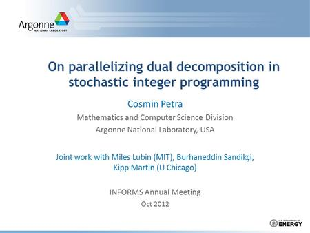 On parallelizing dual decomposition in stochastic integer programming
