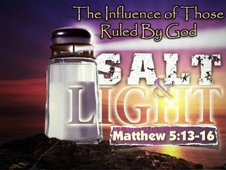 "We Want to Discuss the subject of ""Salt""…as it pertains to us as Christians."