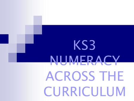 KS3 NUMERACY ACROSS THE CURRICULUM /. How would you do it? Without discussion, complete the following calculations using any pencil and paper method with.