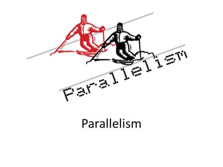 Parallelism. It is an important element in English writing, especially when you are listing, comparing and contrasting items or ideas.