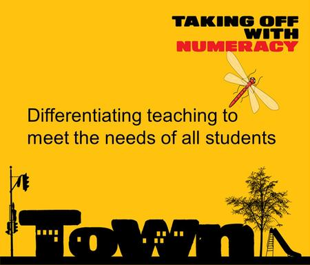 Differentiating teaching to meet the needs of all students.