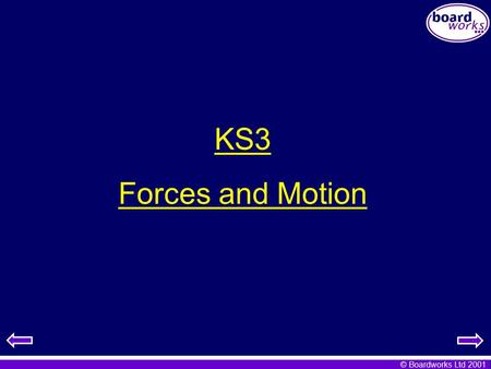 KS3 Forces and Motion.