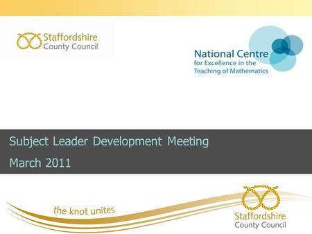 Subject Leader Development Meeting March 2011. Programme Session 1  News and Updates  National Curriculum  Government White Paper Session 2 – GCSE.