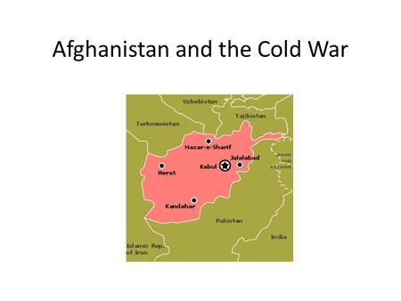 Afghanistan and the Cold War. The Soviet Invasion in Afghanistan (1979-1989) Overview The Soviet invasion of Afghanistan was a 10-year war which wreaked.