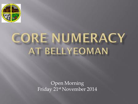 Open Morning Friday 21 st November 2014. 1. Ability to count on and count backward 2. Ability to use number lines and number tracks ( horizontally /vertically.