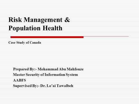 Air Canada - Risk Management Case Solution And Analysis ...