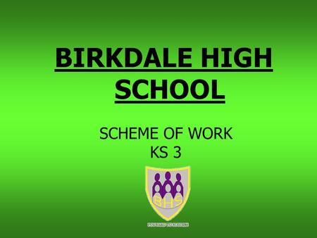 BIRKDALE HIGH SCHOOL SCHEME OF WORK KS 3. TIME LINE 2008 / 2009 Next Slide.