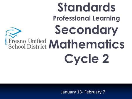 Professional learning report mathematics