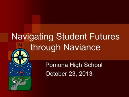 Navigating Student Futures through Naviance Pomona High School October 23, 2013.