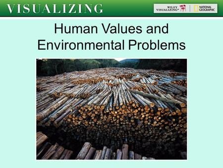 Human Values and Environmental Problems. I=PAT Activity We will getting into 5 groups. In your assigned group, estimate how much of your assigned resource.