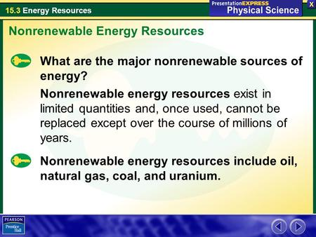 Nonrenewable Energy Resources