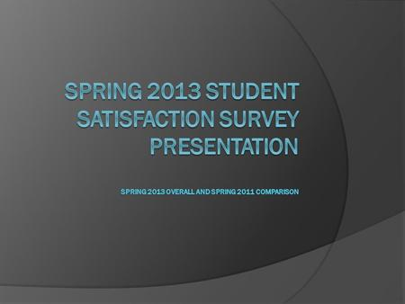 What is the Focus?  Round 2 Analysis observed trends in student perception after first survey.  Allows us to recognize improvements of lower measures.