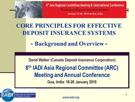 8th IADI Asia Regional Committee (ARC) Meeting and Annual Conference