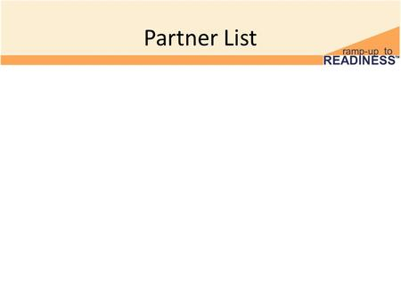 Partner List. 1 Minute Discussion Find out what you have in common with your partner. Microsoft, 2011.