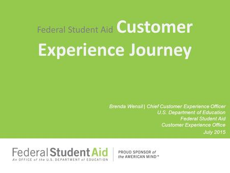Federal Student Aid Customer Experience Journey