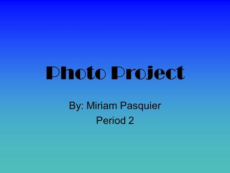 Photo Project By: Miriam Pasquier Period 2. Mugshot Lohan. This is a mugshot because it is a head and shoulders photo and the subject is looking at the.