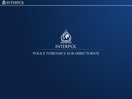 INTERPOL For official use only. Facial Recogniton Project Campbell McGhee.