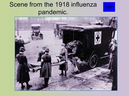 Scene from the 1918 influenza pandemic.. Scene from the 2003 SARS Scare.