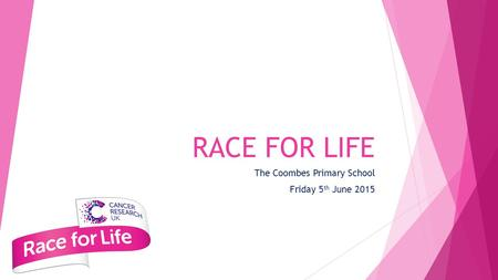 RACE FOR LIFE The Coombes Primary School Friday 5 th June 2015.