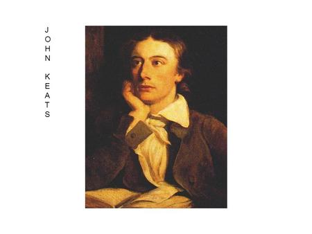 "John Keats JOHNKEATSJOHNKEATS. When I have fears that I cease to be ""teeming brain"" = fertile imagination Line 4 = harvest metaphor Paradox = He is a."