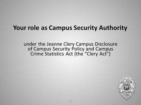 the role of security in a campus Suny compliance roles  campus security authorities  states the following with regard to the domestic violence campus role:.