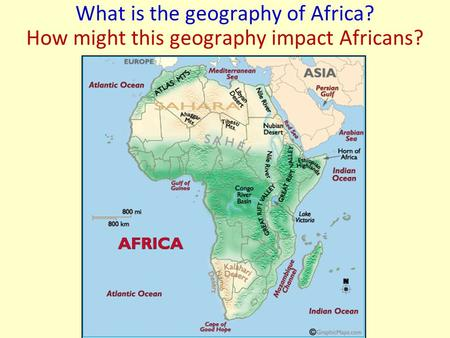 What is the geography of Africa? How might this geography impact Africans?