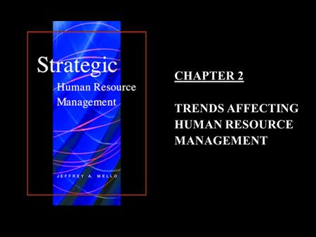 1–11–1 CHAPTER 2 TRENDS AFFECTING HUMAN RESOURCE MANAGEMENT.