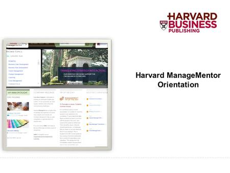 Harvard ManageMentor Orientation