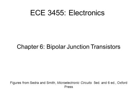 Chapter 6: Bipolar Junction Transistors