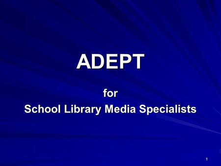 for School Library Media Specialists
