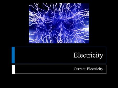 Electricity Current Electricity.