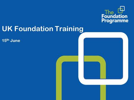 UK Foundation Training 15 th June. UKFPO Overview  The UKFPO - what, who and how?  Work streams for 2009/10  Surgery in Foundation.