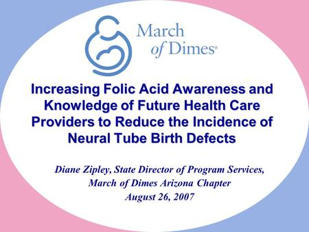 Increasing Folic Acid Awareness and Knowledge of Future Health Care Providers to Reduce the Incidence of Neural Tube Birth Defects Increasing Folic Acid.