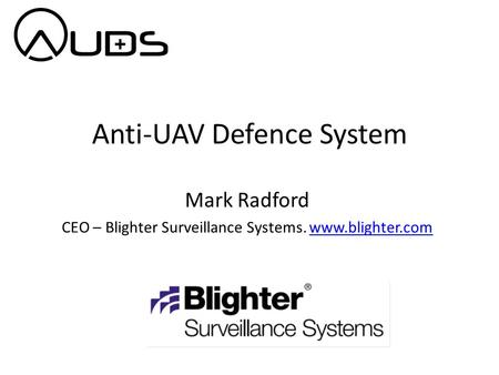 Anti-UAV Defence System