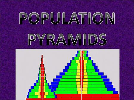 WHAT IS A POPULATION PYRAMID? A population/age sex pyramid is a graphical illustration of the distribution of a human population in a particular country.