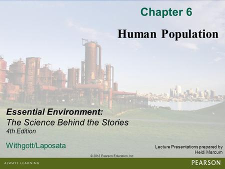 Chapter 6 Human Population.