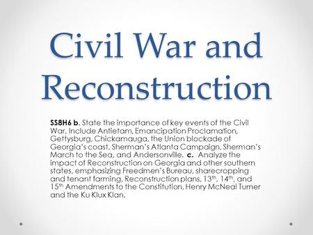 The importance of the civil and