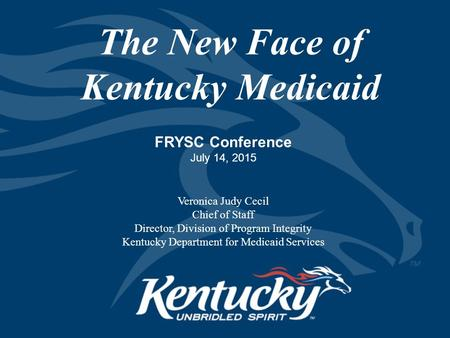 The New Face of Kentucky Medicaid