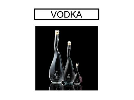 VODKA. Spirits are made from four main ingredients: 1. Base Ingredient — A sugary or starchy base ingredient, whose sugars can be fermented, as in the.