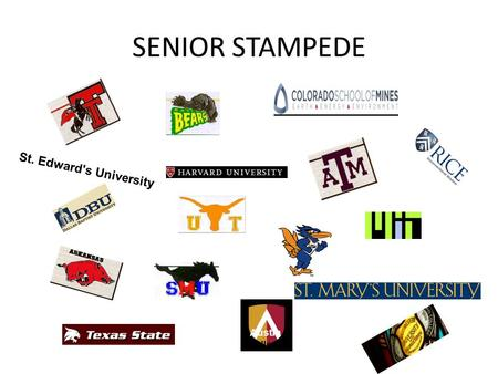 SENIOR STAMPEDE St. Edward's University Austin College.